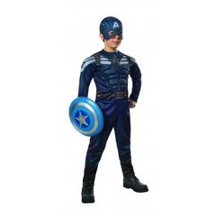Stealth Deluxe Muscle Chest Kids Captain America Costume Item# 885077