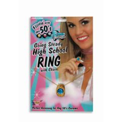 GOING STEADY HIGH SCHOOL RING W/CHAIN - Item #61545