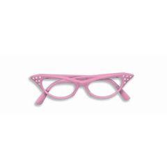 50'S RHINESTONE GLASSES-PINK W/CLEAR LENSES - Item #62061(F)