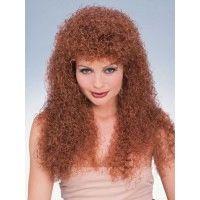 Long Auburn Curly Wig Item# 50743