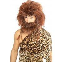 Bushy Caveman Wig & Beard Set Item# 51187