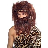 Bushy Caveman Beard & Wig Set Item# 51188