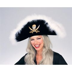 Pirate Hat With Whte Marabou Item# 49316 (R)