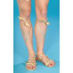 EGYPTIAN WOMEN'S GOLD SANDALS ITEM # 58384 (f)