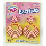 ORANGE SWIRL MOD EARRINGS - Item #62265 (F)