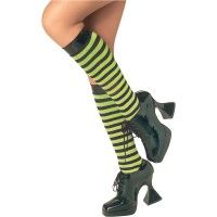 Green & Black Knee High Stockings Item# 6052 (r)
