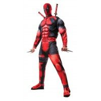 Deluxe Muscle Chest Adult Deadpool Costume Item# 810109 (R)