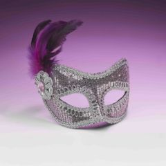 SEQUIN FASHION MASK-PINK - #68493(F)