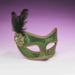 SEQUIN FASHION MASK-GREEN -#68580(F)