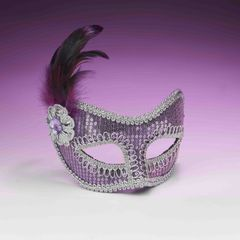 SEQUIN FASHION MASK-PURPLE - #68491(F)