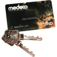 Medeco Key Card DND - Cut Key