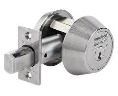 Medeco 11C Maxum Commercial Deadbolt High Security Restricted M3 Keyway Satin Chrome Finish