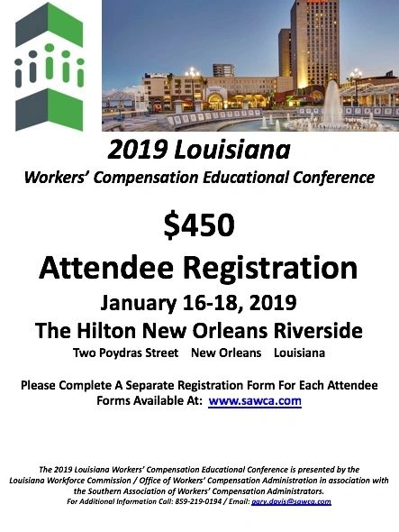 2019 Louisiana WCEC Attendee Registration