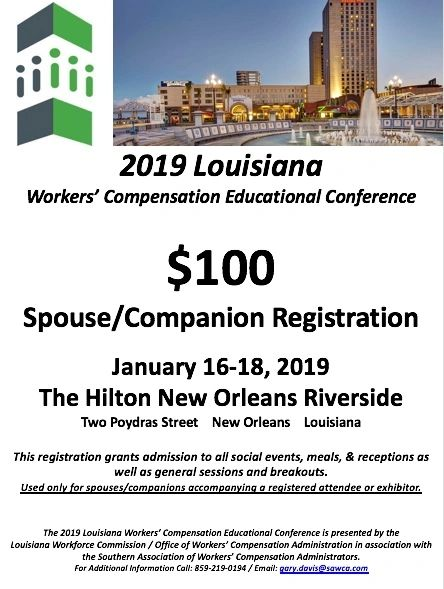 2019 Louisiana Spouse/Companion Registration