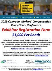 2019 Colorado CWCEC Exhibitor Booth