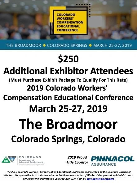 2019 Colorado CWCEC Exhibitor Attendees