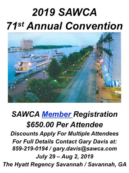 "71st Annual SAWCA Convention ""SAWCA Member"" Registration"