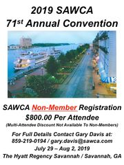 "71st Annual Convention ""SAWCA Non-Member"" Registration"