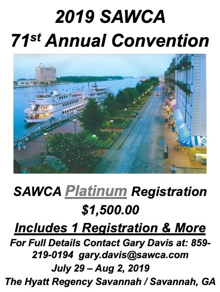 "71st Annual SAWCA Convention ""SAWCA Platinum Sponsorship"" Registration"