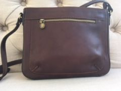 Italian Leather Crossbody Bag Antique Brown L106