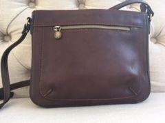 Italian Leather Crossbody Bag Antique Brown L106