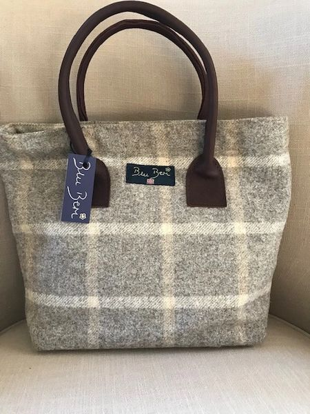 Tweed Grab Bag - Beige Check