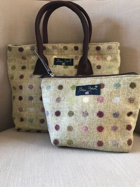Tweed Lime Spot Handbag