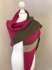 Peacock Pink Triangle Scarf