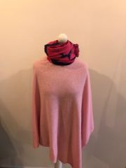 Cashmere Blend Poncho - Candy Pink