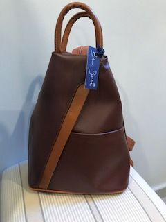 Italian Leather Backpack Brown/Tan