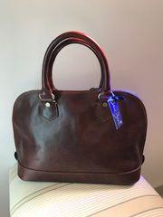 Italian Leather Gladstone Bag