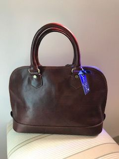Italian Leather Gladstone Bag