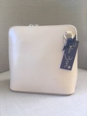 Italian Leather Handbag - Cream