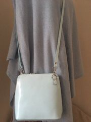 Italian Leather Handbag - Baby Blue
