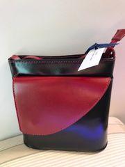 Italian Leather Black/Red Handbag