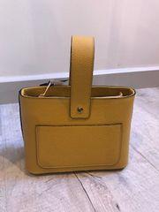Italian Leather Box Bag - Mustard