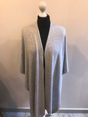 Italian Cashmere Blend Wrap - Silver Grey