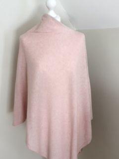 Itlalian Cashmere Blend Poncho - Soft Pink