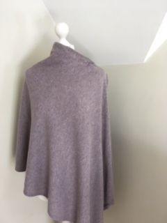 Italian Cashmere Blend Poncho - Heather