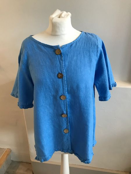 Linen Tunic Grecian Blue