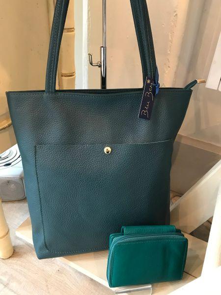 Italian Leather Shopper - Jade