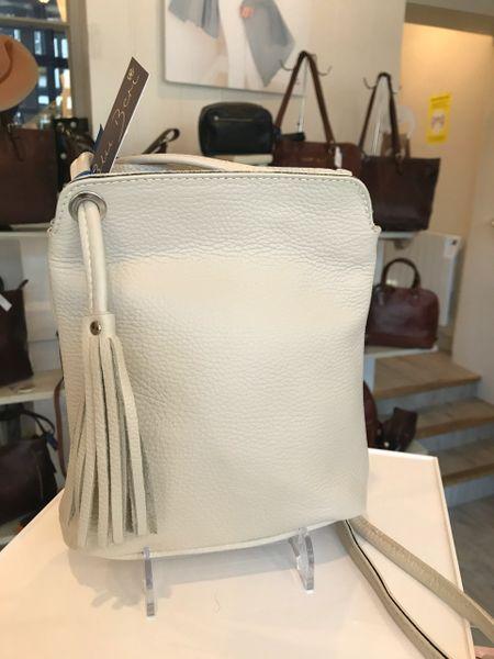 Italian Leather Small Tassel Bag