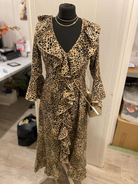 At Last Ladies Felicity Dress - Leopard