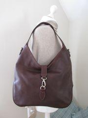 Italian Antique Leather Shoulder Bag L46a