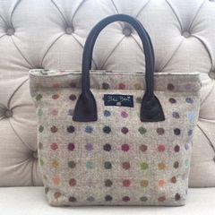 Blu Beri Tweed Handbag - W17