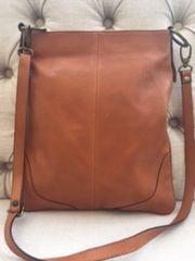 Italian Leather Crossbody Bag Tan L95
