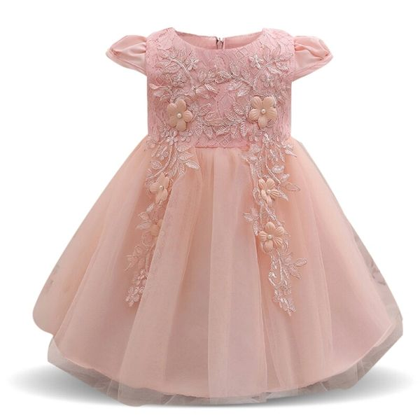7bc1df8e65f India Baby Girl Dusky Pink Dress 3M