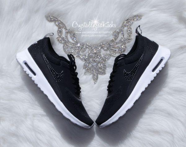 Nike Air Max Thea Made with Swarovski® Crystals BlackWhite