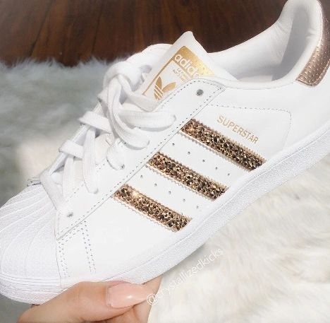 magasin en ligne 1e8aa 5a3db Adidas Original Superstar Made with SWAROVSKI® Xirius Rose Crystals -  White/Rose Gold
