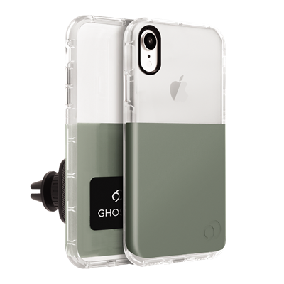 iPhone XR - Ghost 2 Case Olive Gray